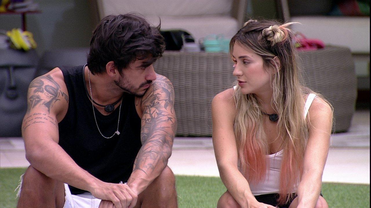 BBB: Guilherme tenta causar comoção e Gabi cai no choro
