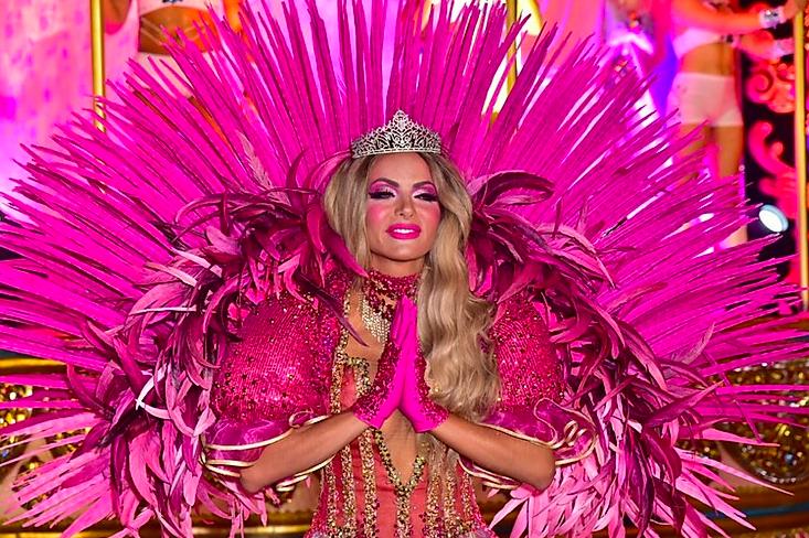Carla Prata desfila na Dragões da Real. Foto: Leo Franco/AgNews