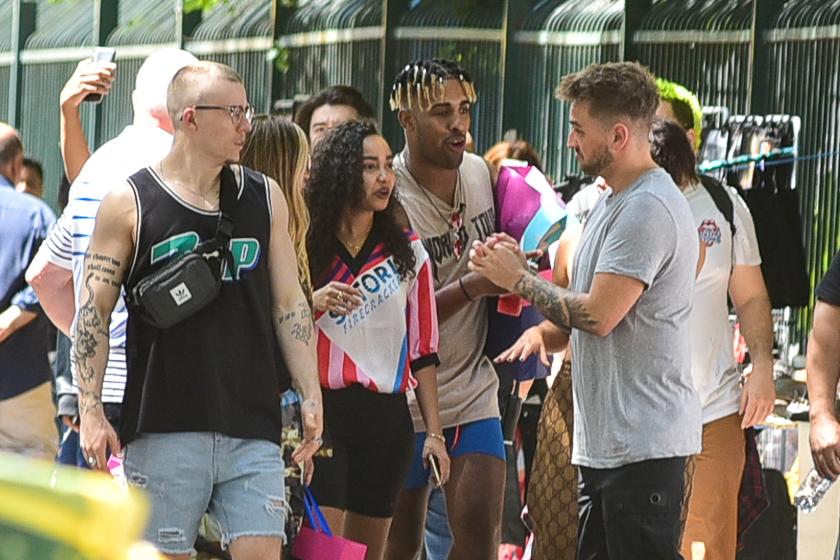 Integrantes do Little Mix em São Paulo
