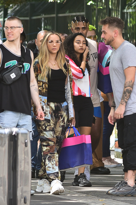 Integrantes do Little Mix em São Paulo.