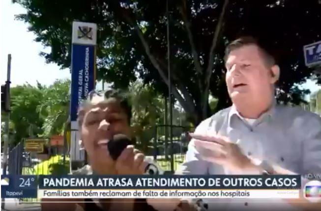Mulher invade jornal na Rede Globo pra apoiar Bolsonaro