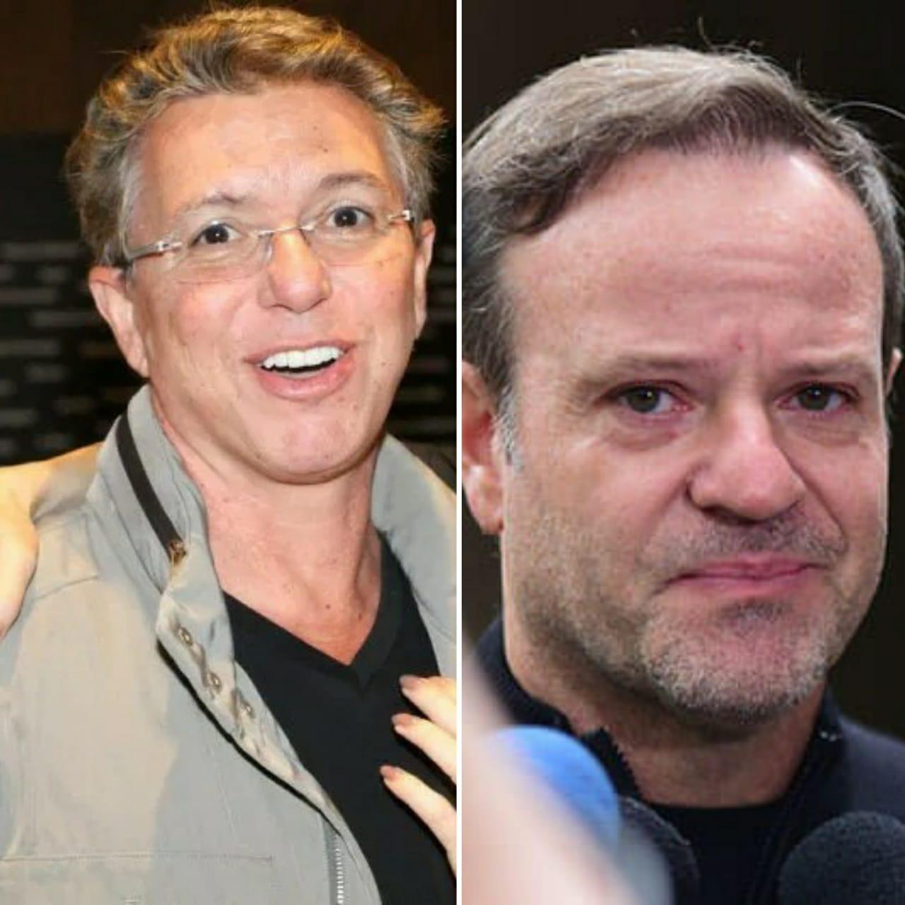 """Boninho faz """"brincadeira"""" com Barrichello e piloto não gosta nadinha"""