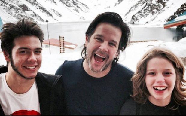 Murilo com os filhos Antonio e Pietro