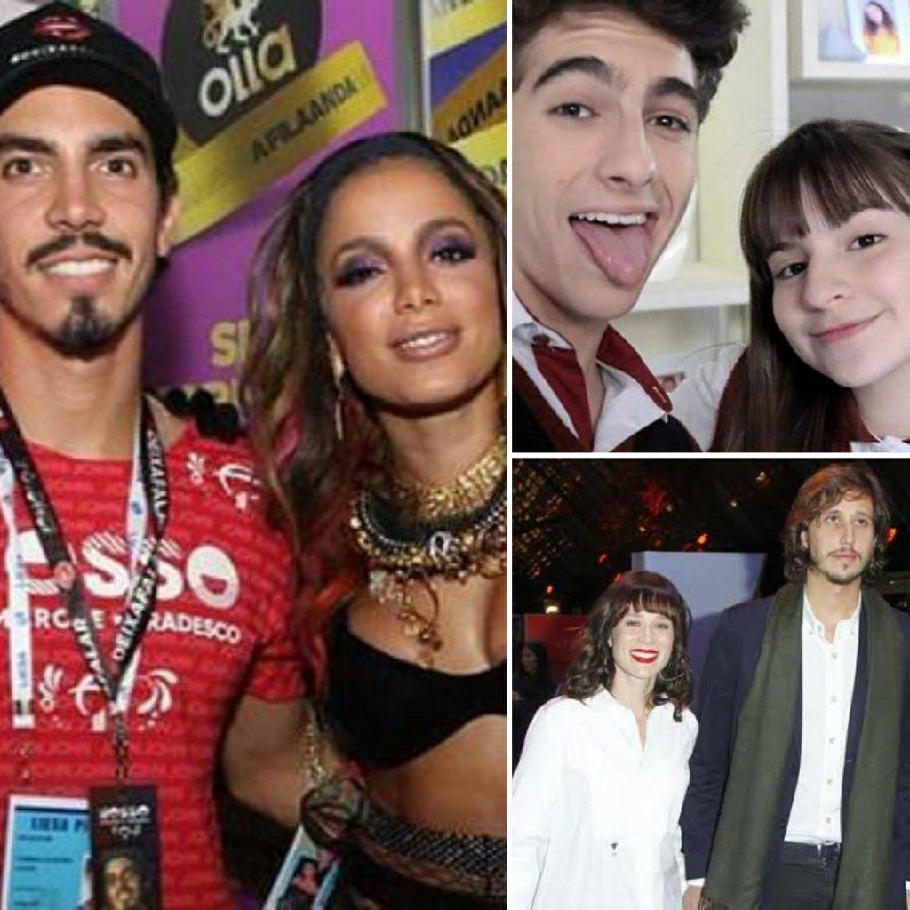 Anitta e Gabriel, Sophia e Lucas, Mariana e Felipe