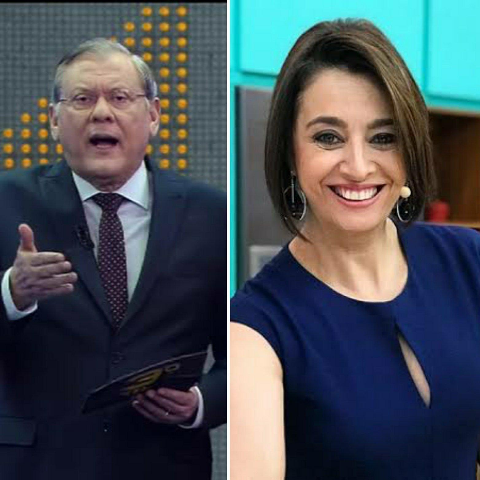 Milton Neves se irrita com atraso de Cátia Fonseca e dá bronca ao vivo