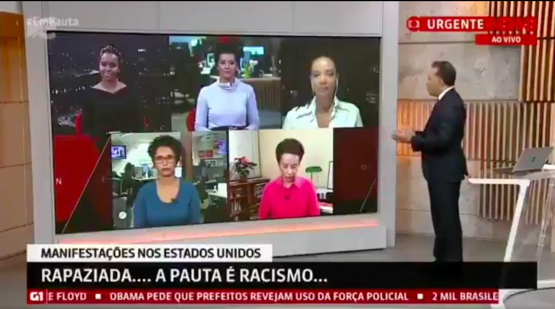 Após críticas, GloboNews convoca jornalistas negros para horário nobre