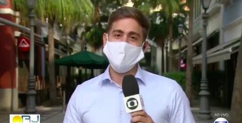 Repórter da Globo se declara ao vivo para o marido