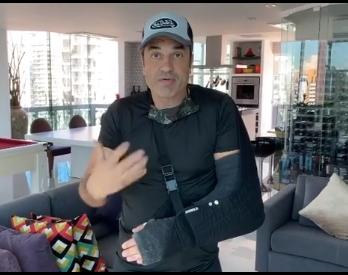 """Edu Guedes fala sobre acidente """"Me recuperando"""""""