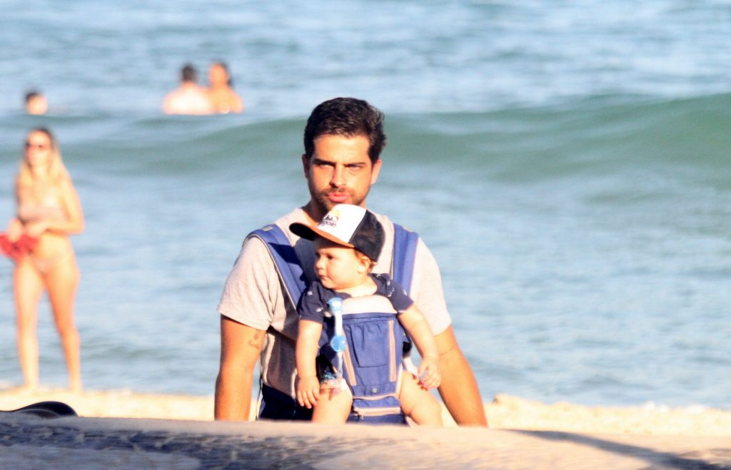 Bernardo Mesquita com filho