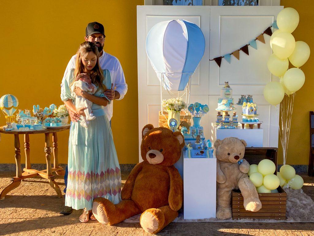 Sorocaba e Biah Rodrigues comemoram 1 mês do filho - Foto Cauê Garcia