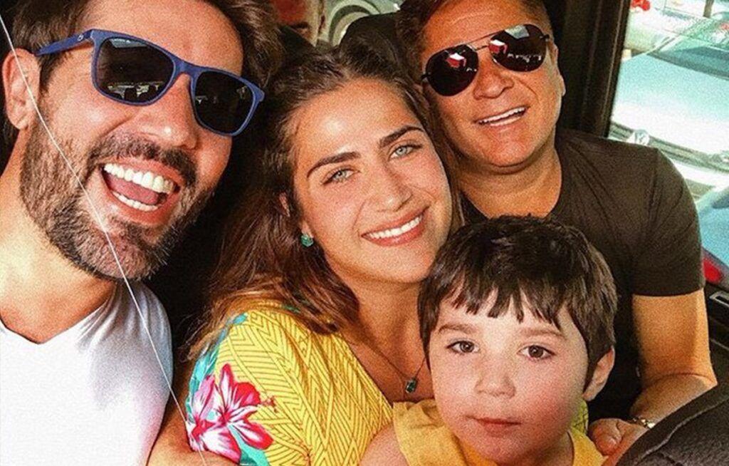 Sandro, Jéssica, Leonardo e Noah