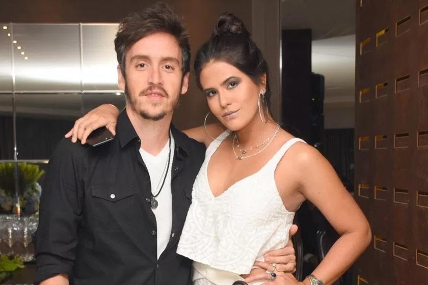 Wagner Santisteban e Antonia Morais juntos - Ela de Branco ele de camisa preta