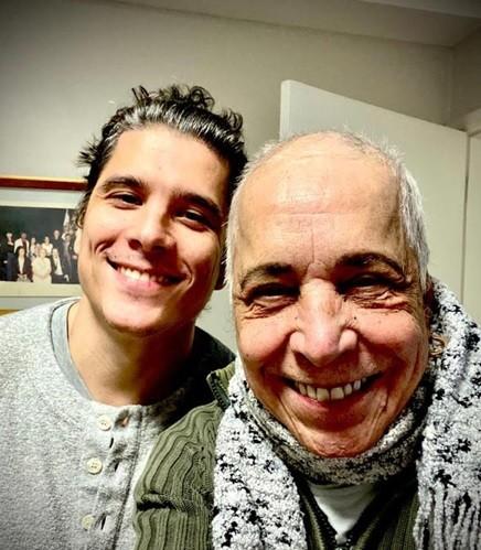 Benito de Paula ao lado do filho Rodrigo