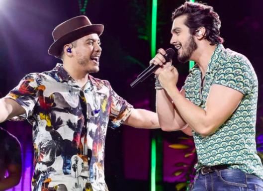 Wesley Safadão e Luan Santana se encontram em Live Junina que demorará 10 dias pra ser montada
