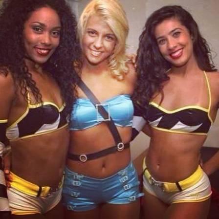 Rosiane com Carla Perez e Sheila Carvalho durante concurso para 'Morena do Tchan'