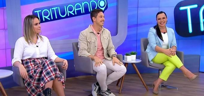Ana Paula Renault, Gabriel Cartolano e Flor no Triturando