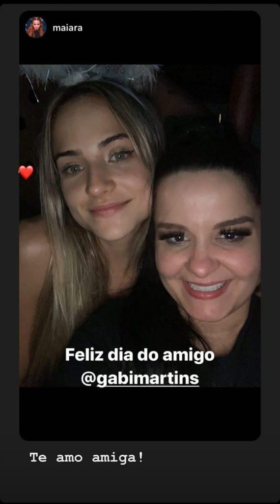 Gabi Martins e Maiara afastam qualquer tipo de boato de desavença