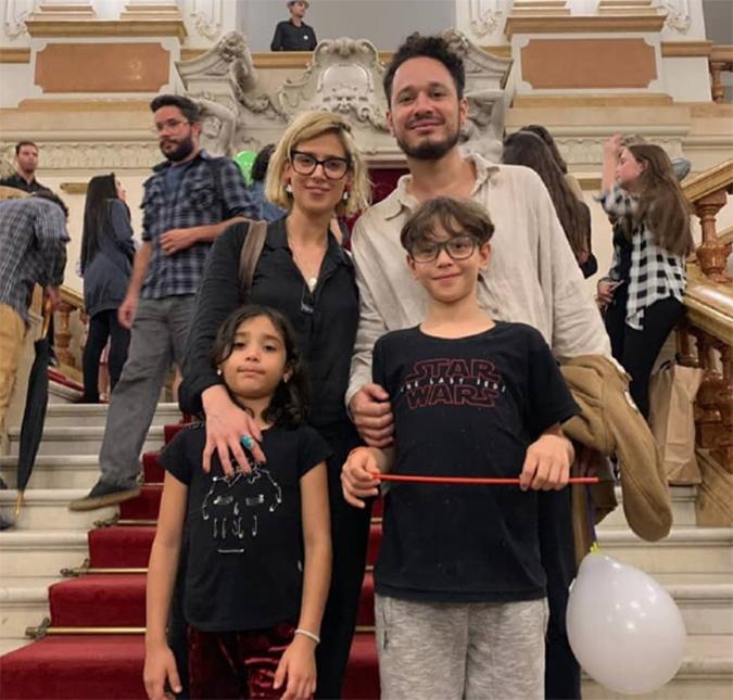 Mel Lisboa com a família