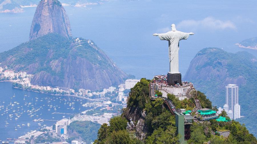 Vista do Cristo Redentor no Rio de Janeiro - Foto: Getty