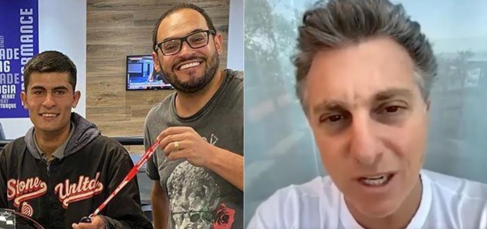 Humorista fura olho de Luciano Huck em doação a motoboy humilhado