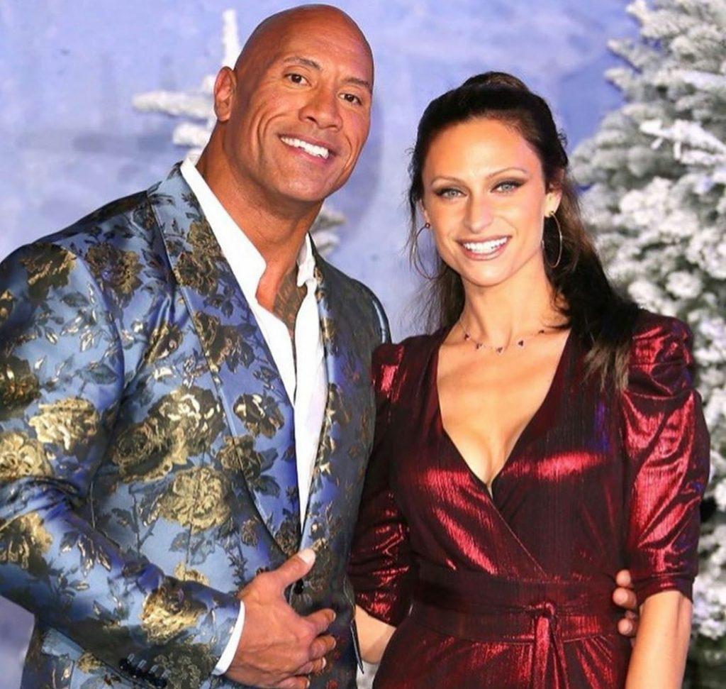 The Rock e a esposa