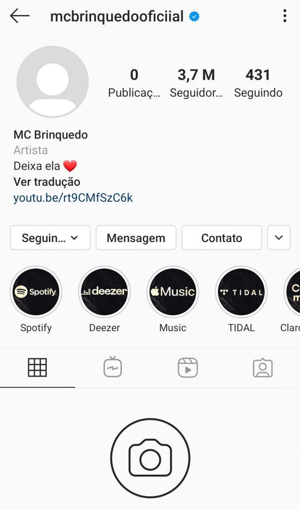 Mc Brinquedo deixa as redes sociais após críticas à sua aparência