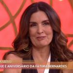 Fátima Bernardes chora com surpresa do filho no Encontro