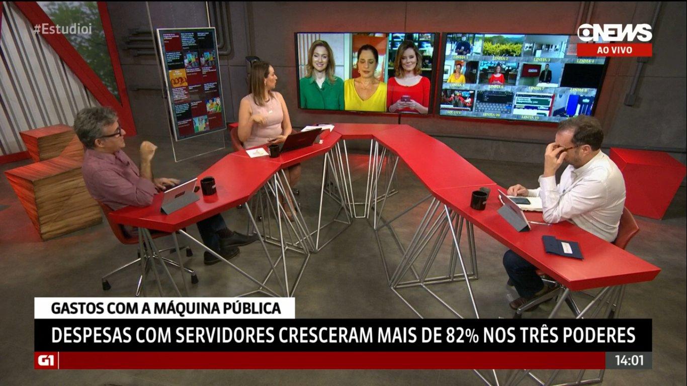 Comentaristas da GloboNews viraram semáforo em entrada ao vivo