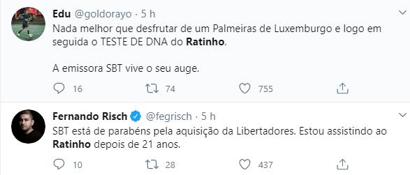 SBT vira alvo de piadas após estreia da Libertadores
