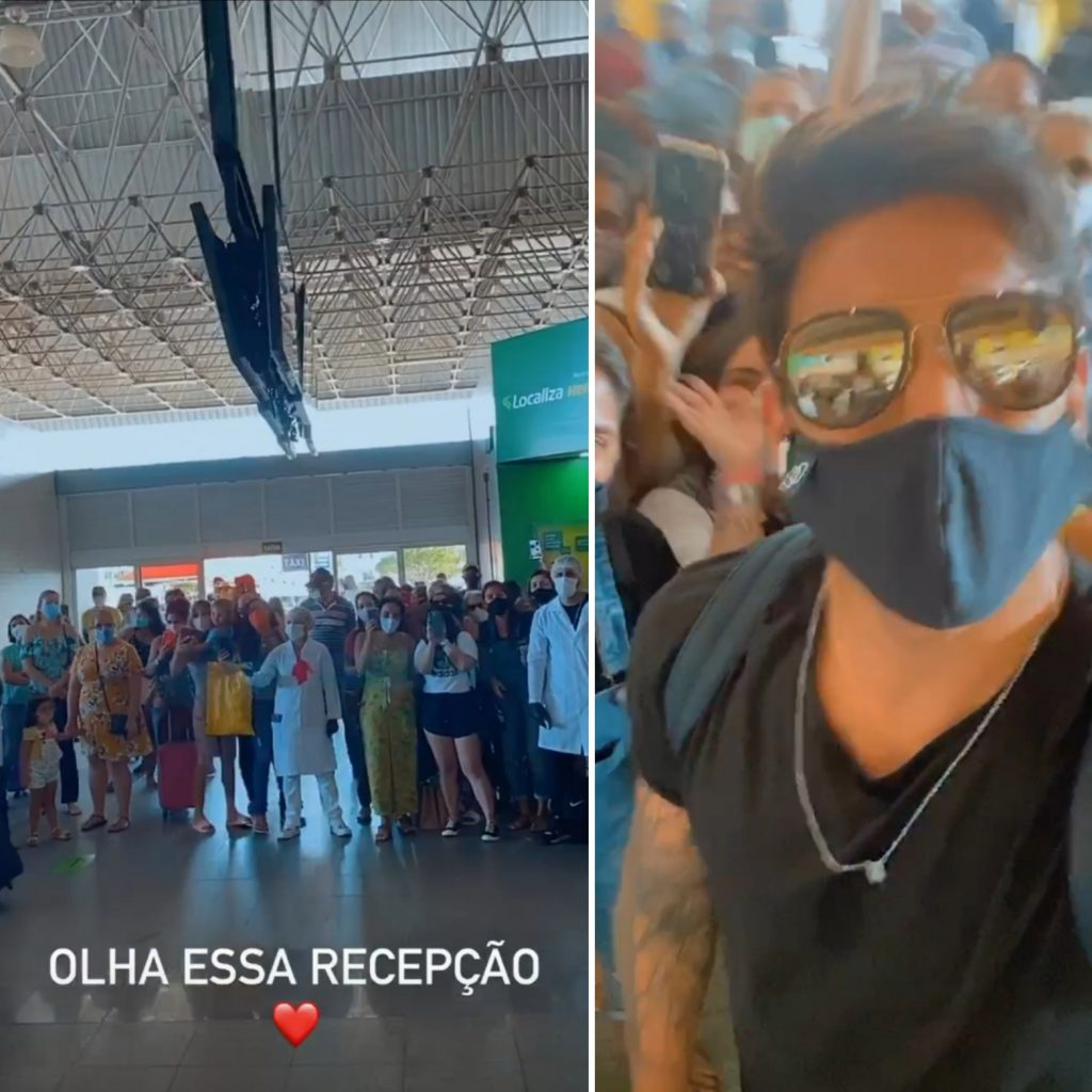 Gui Napolitano causa tumulto ao desembarcar em Aracaju