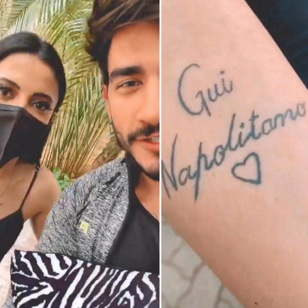 Fã faz tatuagem em homenagem à ex BBB, Gui Napolitano