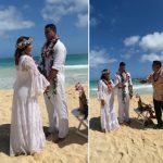 Xanddy e Carla Perez renovam os votos de casamento no Havaí