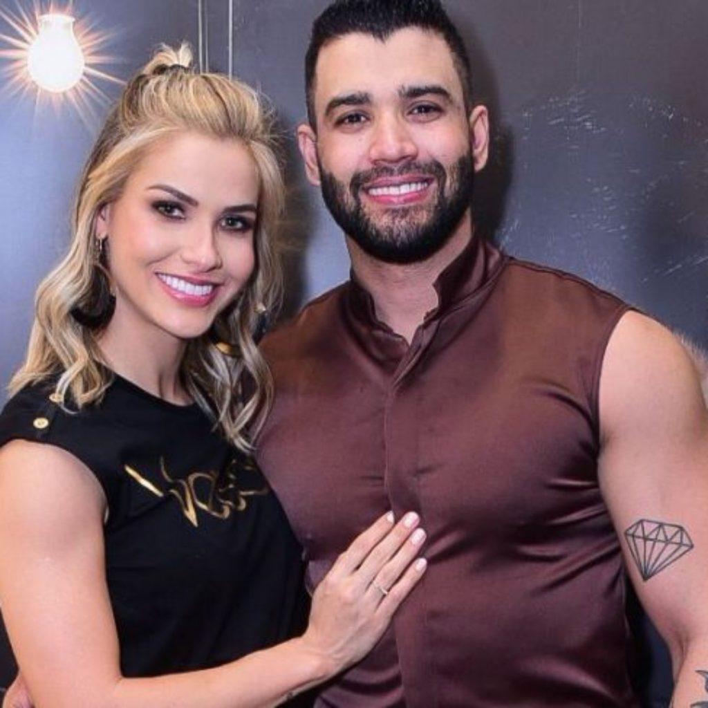 Gusttavo e Andressa viram piada em restaurante de Portugal