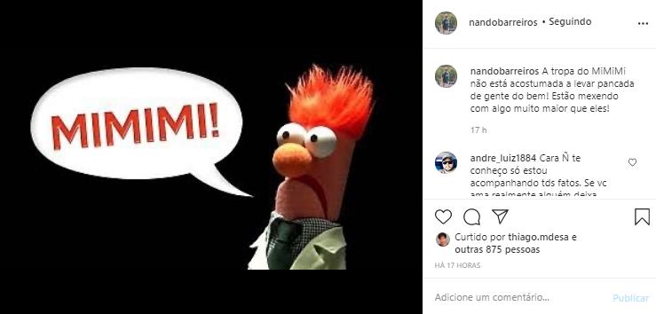 Nando Barreiros não concorda com as atitudes da filha em seu relacionamento com Nego do Borel