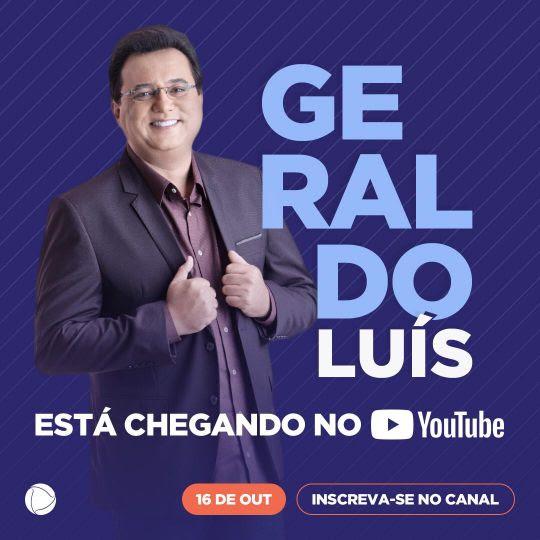 Afastado da Record por conta da pandemia, Geraldo Luís estreia no Youtube