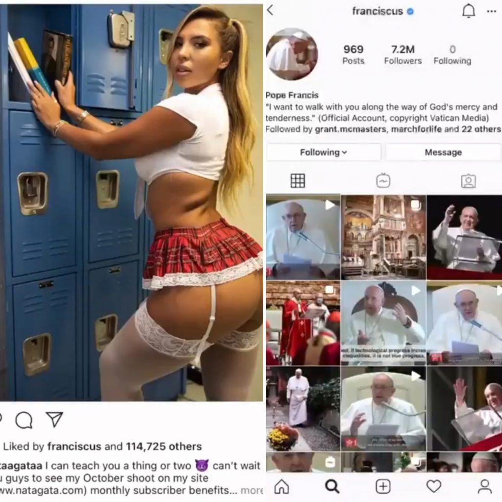 Vaticano abre investigação após perfil do Papa curtir foto de modelo brasileira