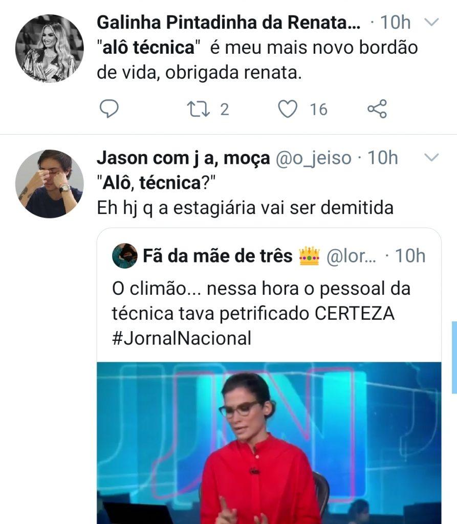 Pane no Jornal Nacional vira meme na web