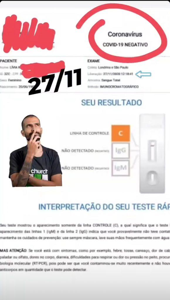 Médico evita que Lívia Andrade transmita Covid-19 em massa