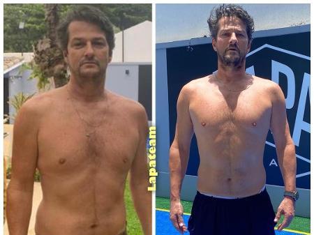 Marcelo Serrado mostra resultado de treino: 'Só o começo'