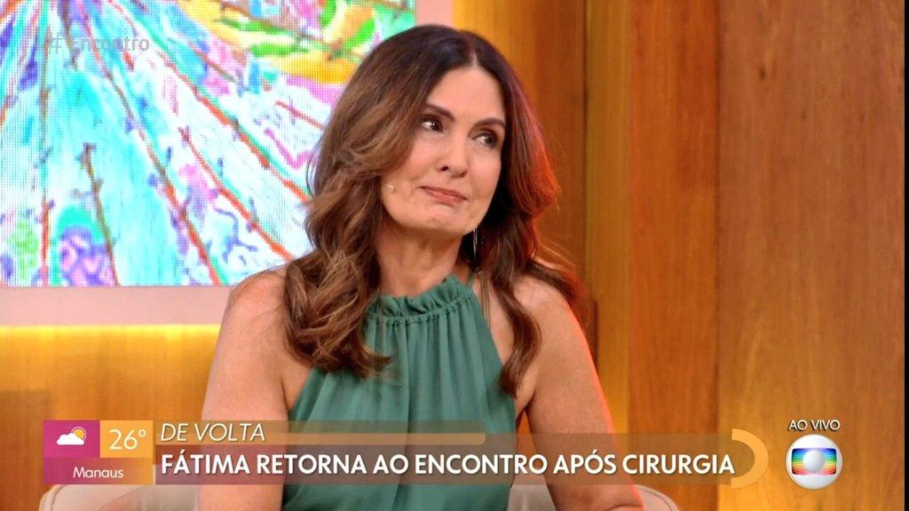 Fátima Bernardes chora no retorno ao Encontro