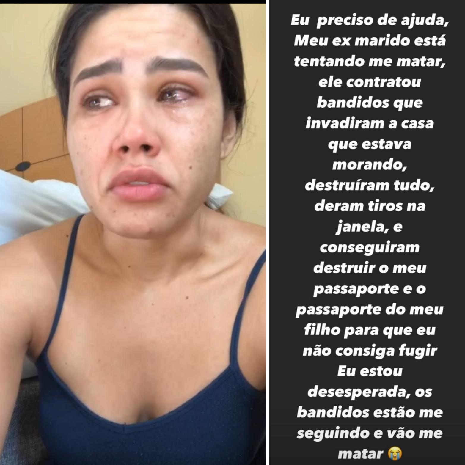 """Modelo brasileira pede ajuda nos EUA """"Eu não quero morrer"""""""