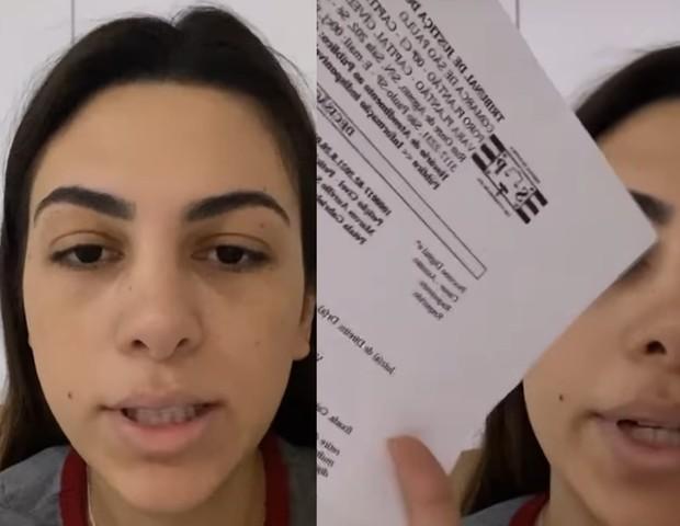 Pétala Barreiros é proibida pela justiça de citar o nome do ex