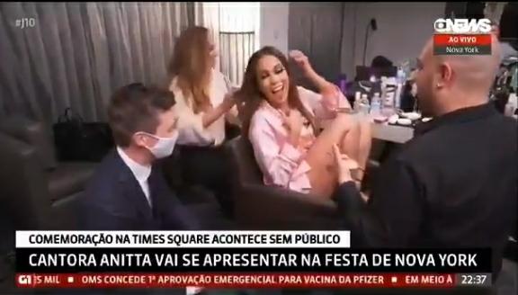 Anitta gera polêmica com entrevista para a GloboNews