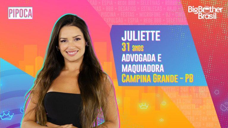 Juliette é a nova integrante da Pipoca do BBB21