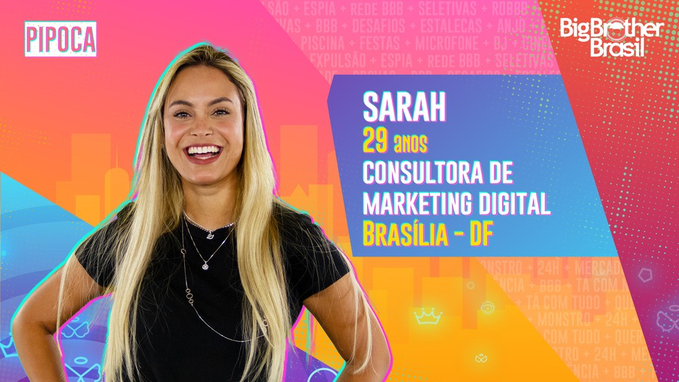 Globo confirma Sarah no BBB21: 'Sou rancorosa!'