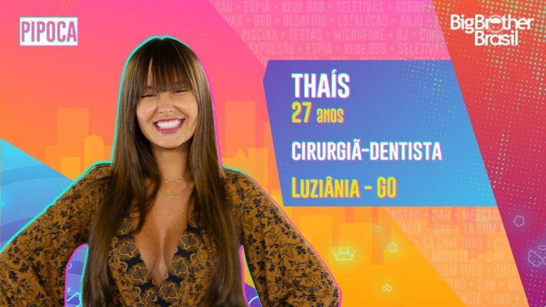 BBB21 anuncia Thaís, dentista de Goiás para a Pipoca