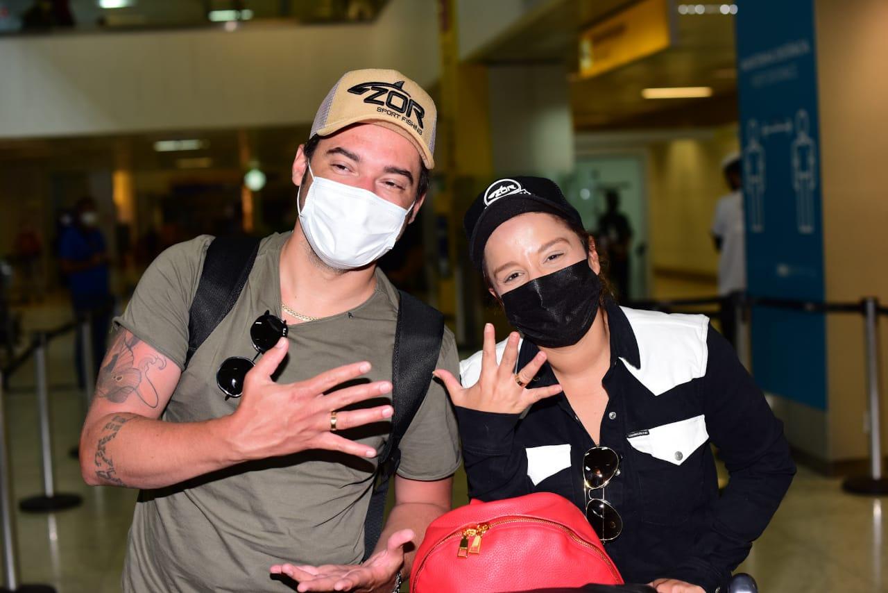 Maiara e Fernando retornam ao Brasil após noivado em Dubai