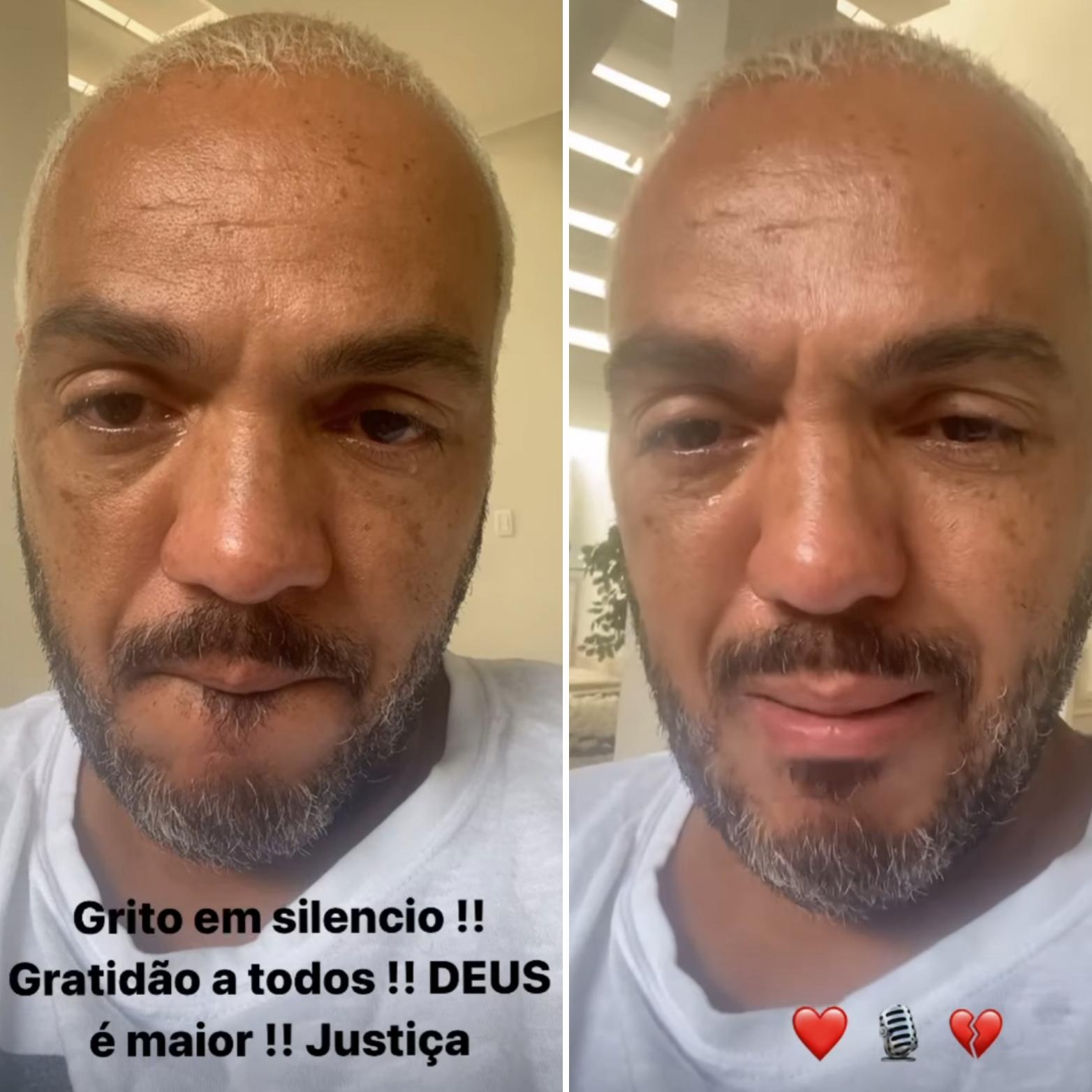 Belo chora após deixar prisão. Veja vídeo!