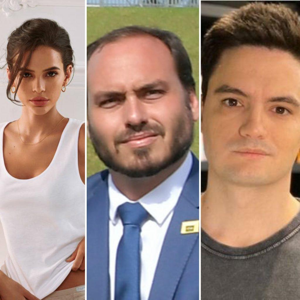 Carlos Bolsonaro abre queixa-crime contra Felipe Neto e Bruna Marquezine