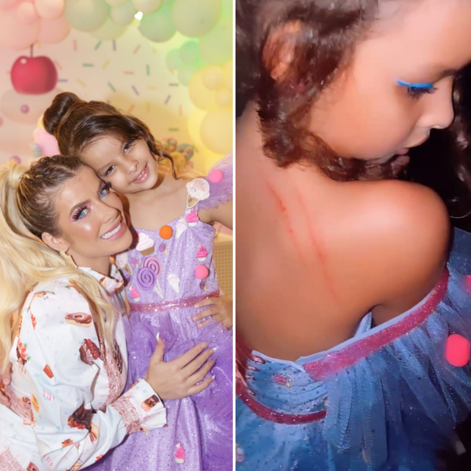 Filha de ex BBB Jaquelline é agredida em festa de aniversário
